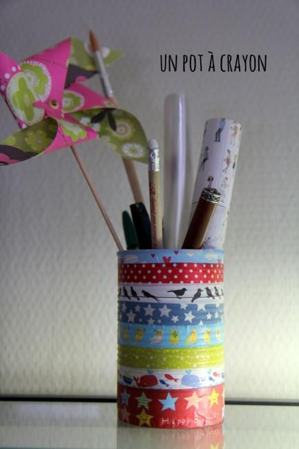 pot crayon masking tape