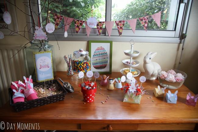 sweet table pâques